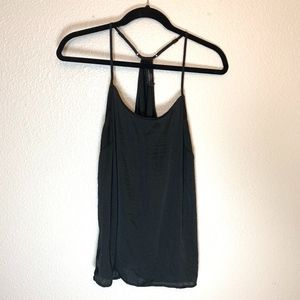 The Limited Black Racer Back Flowy Tank Blouse